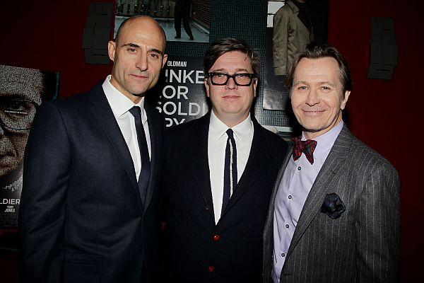 "Mark Strong, from left, Tomas Alfredson and Gary Oldman pose at a special screening of  Focus Features' ""Tinker Tailor Soldier Spy,"" at the Landmark Theatres Sunshine Cinema, Wednesday, Nov. 30, 2011 in New York."
