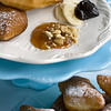 This Oct. 26, 2011 photo shows buttermilk sufganiyot in Concord, N.H. These sufganiyot are sweet, slightly chewy and reminiscent of the famous beignets of New Orleans.    (AP Photo/Matthew Mead)