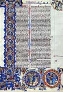 """Initial I: Scenes of the Creation of the World and the Life of Christ, about 1"