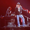 Axl Rose sings with Guns N' Roses at the group's Wednesday, Dec. 21, 2011 perfo