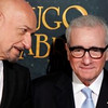 Actor Ben Kingsley, left, and director Martin Scorsese talk before a screening