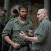 "Gerard Butler, center, and Ralph Fiennes in a scene from ""Coriolanus."""