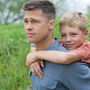 In this publicity image released by Fox Searchlight films, Brad Pitt, left, and