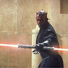 Darth Maul weilding a double-edged lightsaber in  Star Wars:  Episode I   The P