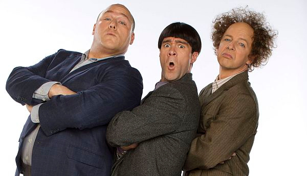 "Will Sasso, left, Chris Diamantopoulos and Sean Hayes star in ""The Three Stooge"