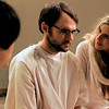 In this film image released by Fox Searchlight, Chris Denham, center, and Brit