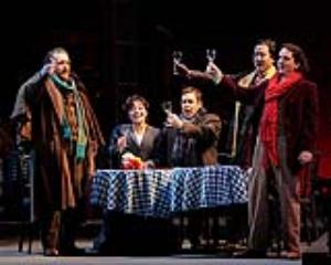 """This photo taken May 5, 2012 shows a piano dress rehearsal for """"La Boheme"""" on t"""