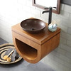 This Halcyon vanity is made of Forest Stewardship Council certified Caramel Bam