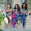 "Elizabeth Olsen, left, Jane Fonda and Catherine Keener in ""Peace, Love & Misund"