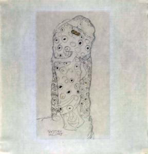 """Standing Couple Embracing, Seen from the Side,"" By Gustav Klimt (Photo courtes"