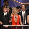 The cast of 30 Rock accepts the award for best comedy ensemble at the Screen Actors Guild Awards at the Shrine Auditorium on January 25, 2009 in Los Angeles, California.