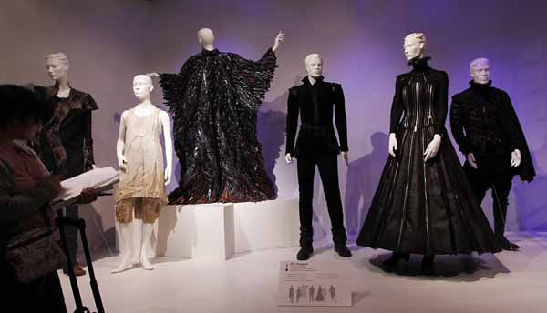"In this Feb. 8, 2011 photo, costumes designed by Sandy Powell, from the film ""The Tempest"", are seen on display at the 19th Annual ""Art of Motion Picture Costume Design"" exhibit at the Fashion Institute of Design and Merchandising Museum and Gallery  in Los Angeles. (AP Photo/Matt Sayles)"