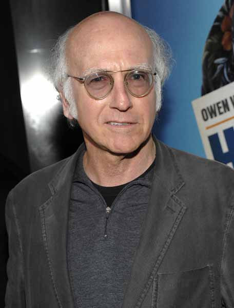 "Actor and writer Larry David arrives at the premiere of the feature film ""Hall Pass"" in Los Angeles on Wednesday, Feb. 23, 2011. (AP Photo/Dan Steinberg)"
