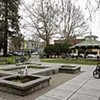 This Friday, Feb. 18, 2011 photo shows the plaza square in the middle of Healdsburg, Calif. The chic wine country town of Healdsburg has a little secret.  Fine wine is just the beginning of the attractions on tap here. Poke around antique shops, eat at a Michelin-starred restaurant or float down a lazy river, those are just some of your options. (AP Photo/Eric Risberg)