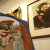 This Friday, Feb. 18, 2011 photo shows artwork of the Grateful Dead's Jerry Garcia by Stanley Mouse on display at the Rockin Roses gallery in Healdsburg, Calif. The Rockin Roses gallery is stocked with  works by Stanley Mouse, including paintings that became classic Grateful Dead covers, as well as art by some of his friends, like painted drum-heads by Grateful Dead drummer Mickey Hart and some vivid Alice In Wonderland themed paintings by Grace Slick. (AP Photo/Eric Risberg)