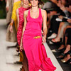 FILE-   This Sept. 15, 2010 file photo shows the Michael Kors Spring 2011 collection modeled during Fashion Week in New York. The big fashion trend for this spring is longer lengths _ below-the-knee skirts, maxi dresses and flared-leg trousers.   (AP Photo/Mark Lennihan, FILE)