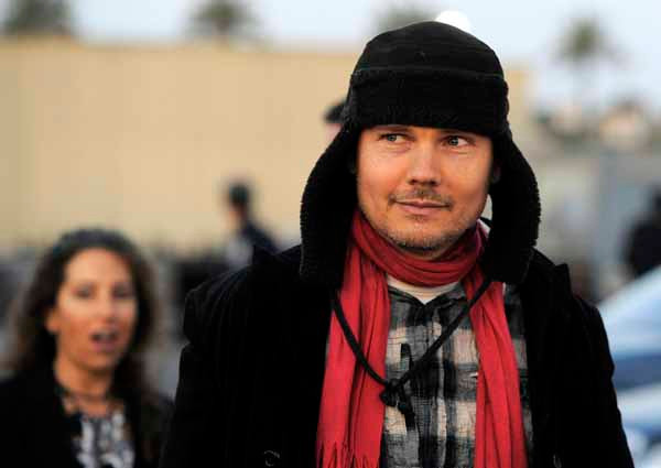 Musician Billy Corgan arrives at the 16th Annual Los Angeles Antique Show Opening Night Gala to benefit P.S. Arts, Wednesday, April 13, 2011, in Santa Monica, Calif. (AP Photo/Chris Pizzello)