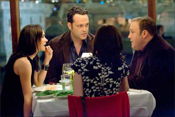 "From left, Jennifer Connelly, Vince Vaughn and Kevin James star in the comedy ""The Dilemma,"" directed by Ron Howard."