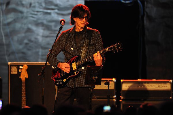 The Cars' Ric Ocasek performs Thursday, May 12, 2011, at the Hollywood Palladium.  (Michael Owen Baker/Staff Photographer)