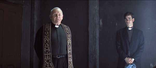 """(L-r) ANTHONY HOPKINS as Father Lucas and COLIN O'DONOGHUE as Michael Kovak in New Line Cinema's psychological thriller """"THE RITE,"""" a Warner Bros. Pictures release."""