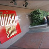 Guests line up outside of NBC Burbank for the Tonight Show, Oct. 10, 2007. NBC will be moving its Burbank operation to Universal Studios.