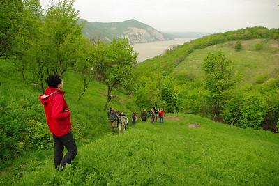 První den - výstup od Dunaje ke Svaté Heleně