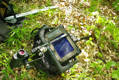 Použité vybavení - laserový měřič, německý kompjůtr, metr, oko a klacek
