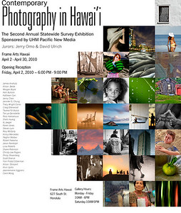 Contemporary Photography in Hawaii 2010 , Sponsored by UHM Pacific New Media ...  Over  300  guests Opening Reception April 2, 2010.  Busiest Opening ever for a PNM Event  (Pacific New Media)  ...  this is the Invite