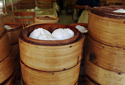 dim sum through the window, chinatown, Honolulu  Hawaii getting ready for lunch to start. www.finches.smugmug.com