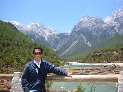 Photographer:  Lance Wong   ... Lance, Valley view ...   May, 2009 trip to Lijiang, China. The images are of Black Dragon Pool and Jade Dragon Snow Mountain