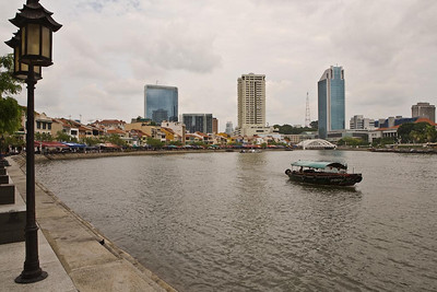Singapore River at the Boat Quay .... Photographed by Jack Ebey