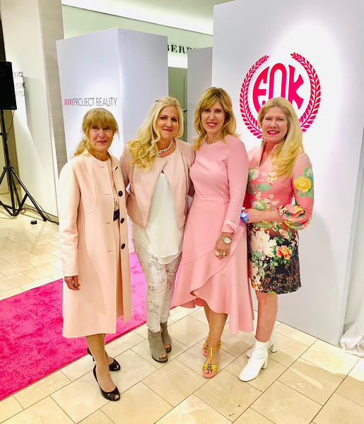 The Zouzas ladies, from left, Despena, Tanya Zouzas and Blooming Pink co-Chairwoman Elaine, and The Z-List's Dacey, all from Chelmsford