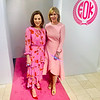 "Dynamic duo ""Blooming Pink"" co-Chairwomen Susan Anton Pasanen of North Andover with Elaine Zouzas Thibault of Chelmsford"