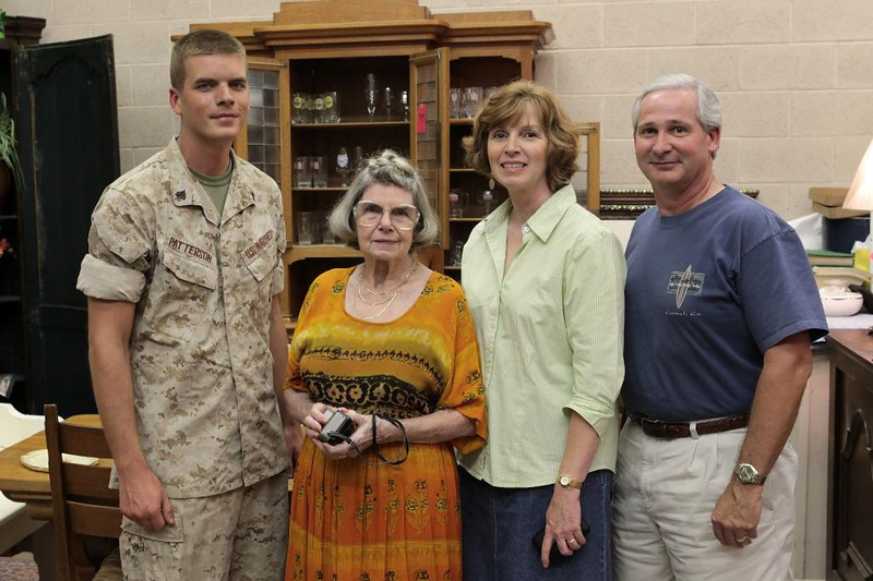 Andrew, Mother, Isabelle and Bill.  Andrew had just returned from 2 weeks of basic training at Fort Polk, LA.