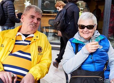 Palma de Mallorca Main Square at Starbucks Coffee Shop