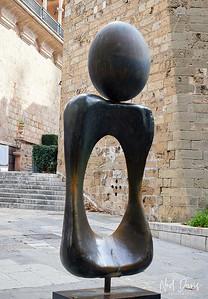 Joan Miro Egg Sculpture in Palma
