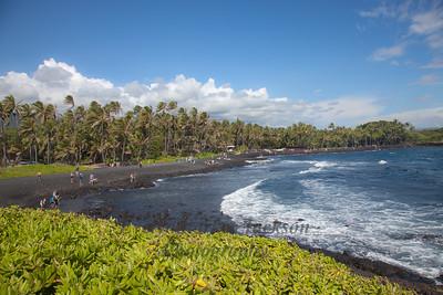 Hawaii Big Island Black Sand Beach