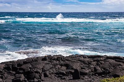 Hawaii Big Island Seascape:  Blue Water and Sky