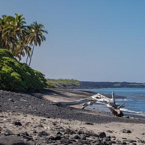 Hawaii Big Island White Sand Beach and Sky