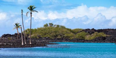 Hawaii Big Island Black Sand Beach and Sky