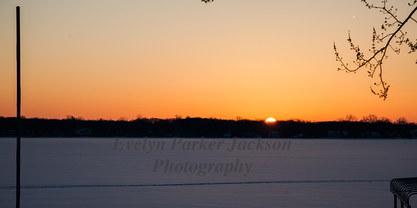 12 February 2018:  Sunrise on Lake Lansing