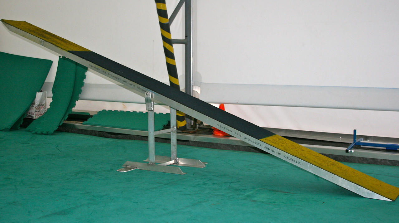 Teeter: exact pivot point, stable, aluminum or powder-coated steel construction.  Contact surface can be finished by the manufacturer, or you can do it on your own.