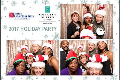 Embassy Suites & Hilton Garden Inn Alexandria Old Town 2017 Holiday Party Photo Booth
