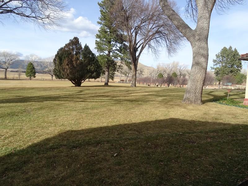 Villa lawn around campus area