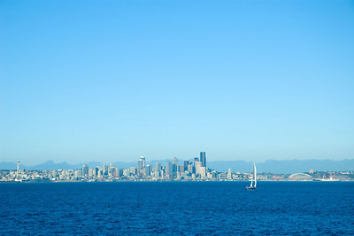 Seattle from the Bainbridge Island ferry.