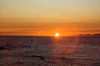 Sunset over the Strait of Juan de Fuca.