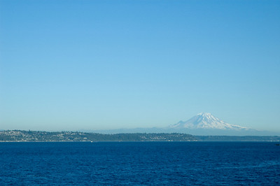 Mount Rainer from the Bainbridge Island ferry.
