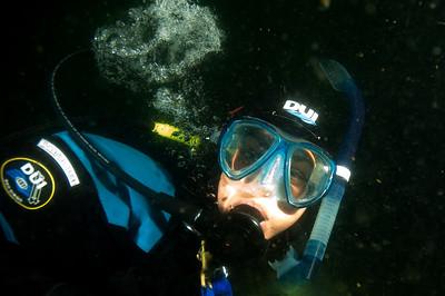 My dive buddy Adria.