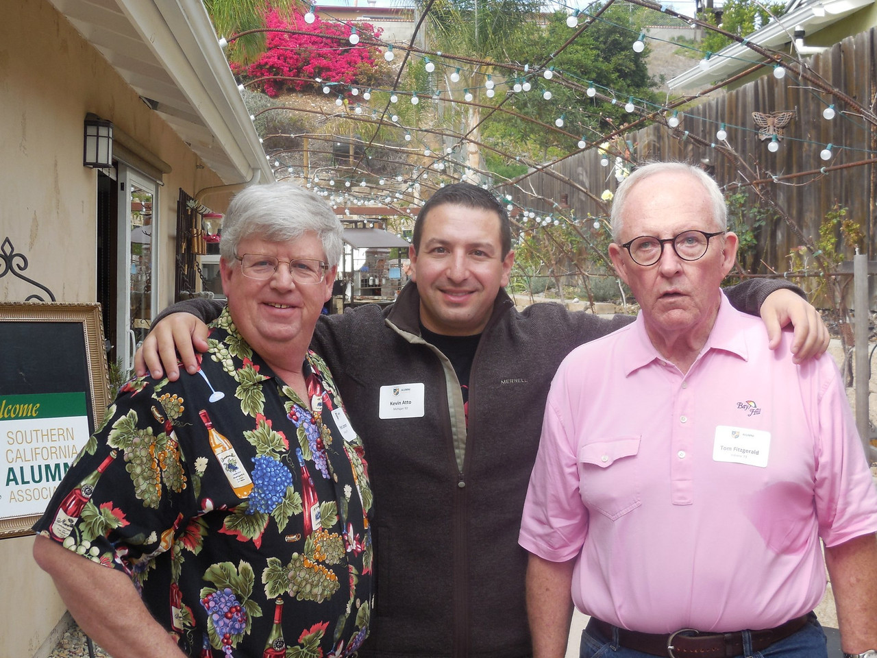 Peter Lannon (Mich. '76),  Kevin Atto (Mich. '02) and Tom Fitzgerald (Ind. '73)