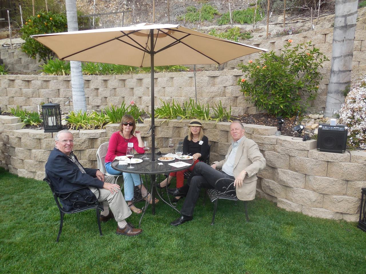 Jim Dwyer (Marq. '74), Mary Dwyer, Bill Pfordresher (Ill. '72) and Rita Kanell.